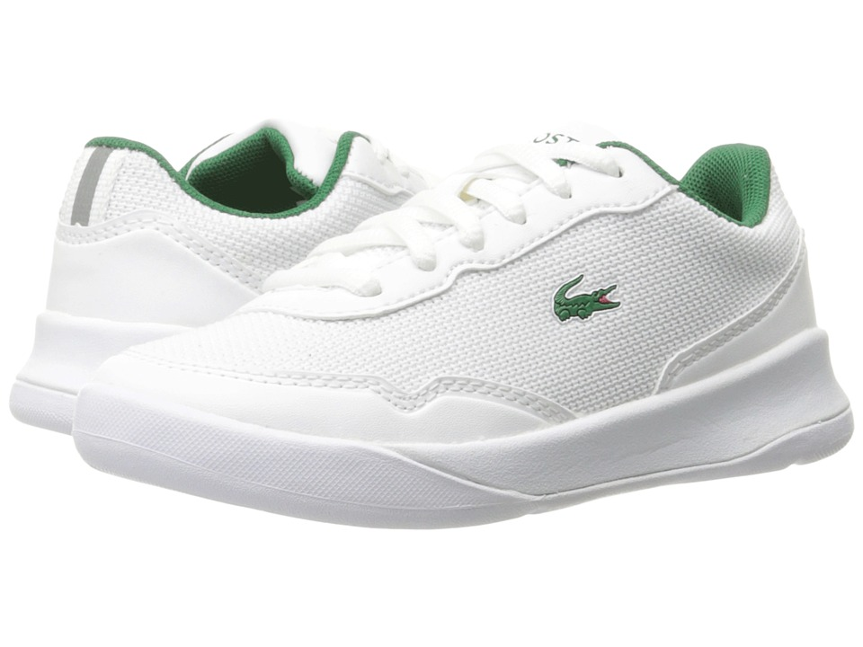 Lacoste Kids - LT Spirit 117 1 SP17 (Little Kid) (White/Green) Kids Shoes