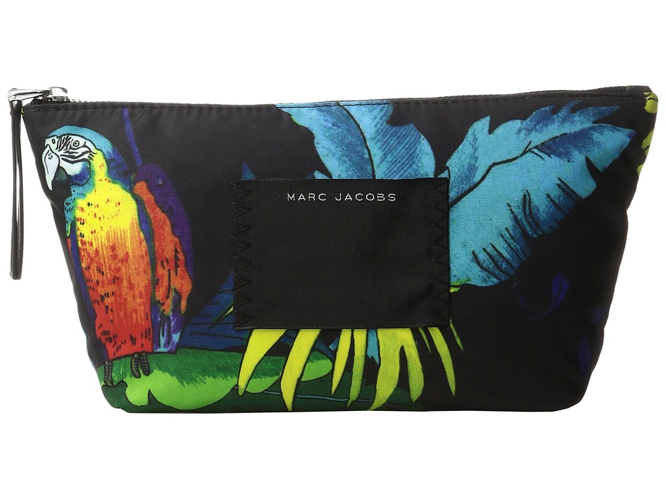 Marc Jacobs - BYOT Parrot Trapezoid Cosmetics Case (Black Multi) Cosmetic Case