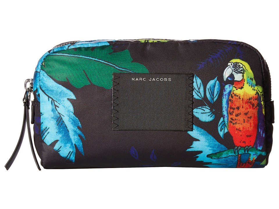 Marc Jacobs - BYOT Parrot Large Cosmetics Case (Black Multi) Cosmetic Case