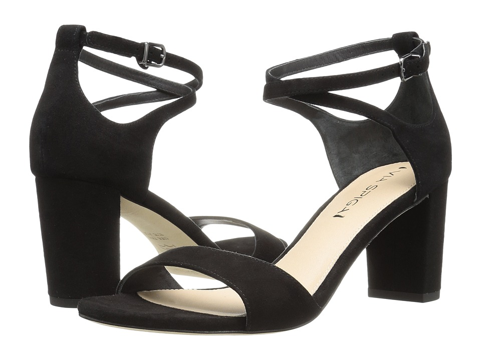 Via Spiga - Wendi (Black Suede) High Heels