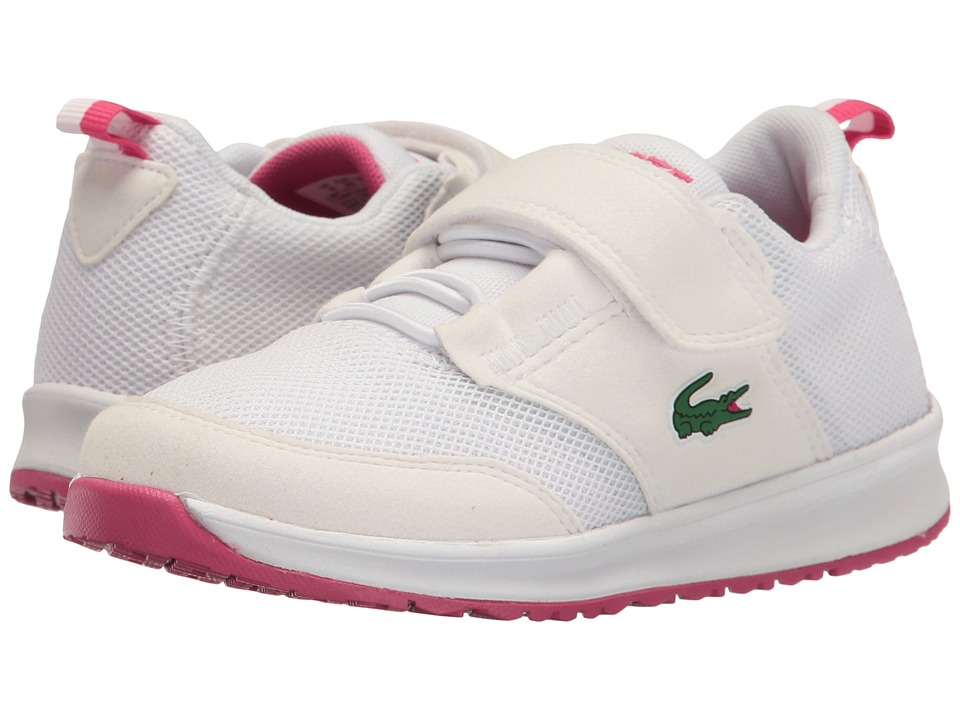 Lacoste Kids - L.ight 117 1 SP17 (Little Kid) (White/Pink) Girls Shoes
