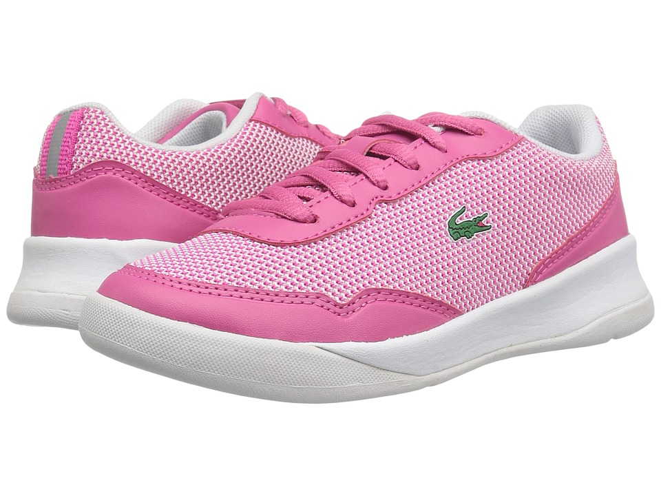 Lacoste Kids - LT Spirit 117 2 SP17 (Little Kid) (Pink/White) Girls Shoes