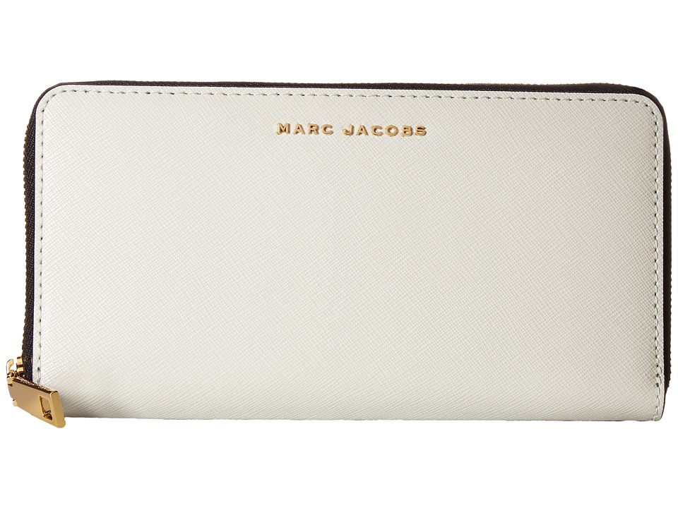 Marc Jacobs - Saffiano Bicolor Vertical Zippy (Dove/Navy) Handbags
