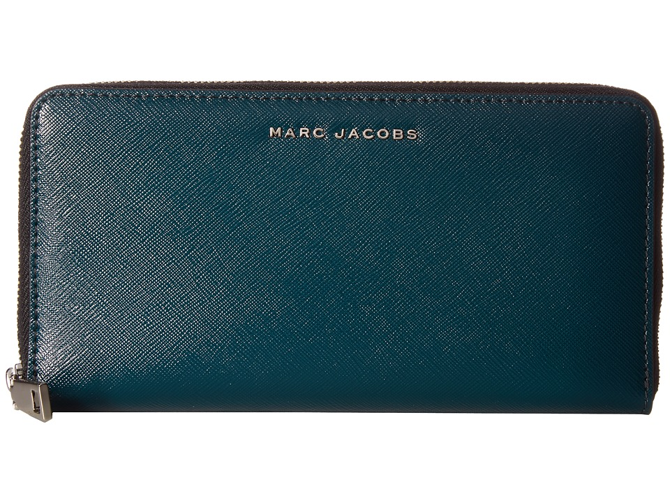 Marc Jacobs - Saffiano Bicolor Vertical Zippy (Cypress/Anthracite) Handbags