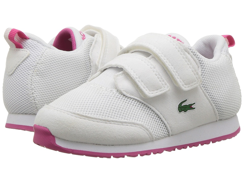 Lacoste Kids - L.ight 117 1 SP17 (Toddler/Little Kid) (White/Pink) Girls Shoes