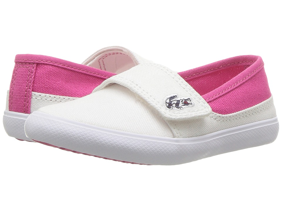 Lacoste Kids - Marice 117 1 SP17 (Toddler/Little Kid) (White/Pink) Girls Shoes