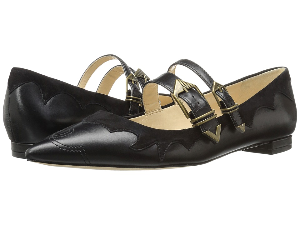 Nine West Alina (Black/Black Leather) Women