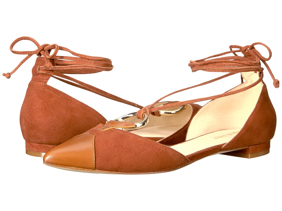 Nine West Alice (Cognac/Cognac Suede) Women
