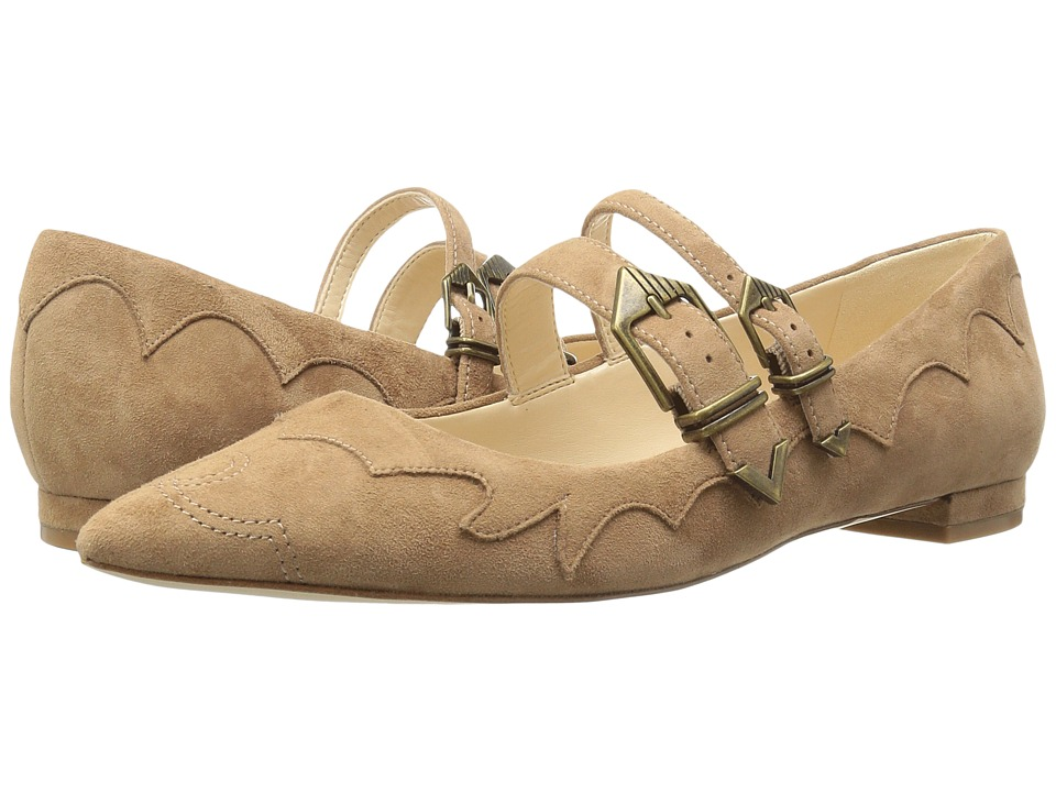 Nine West - Alina (Natural/Natural Suede) Women's Shoes