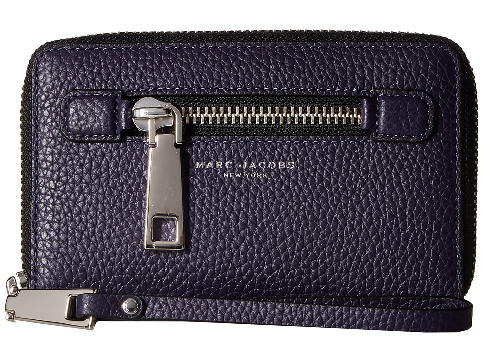 Marc Jacobs - Gotham Zip Phone Wristlet (Nightshade) Wristlet Handbags