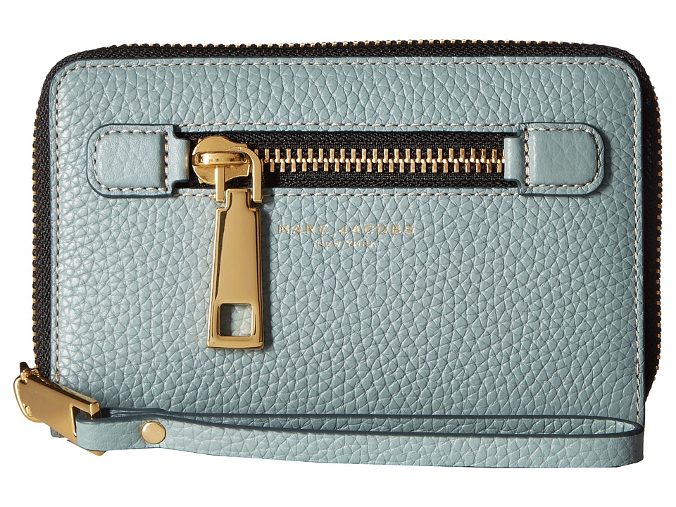 Marc Jacobs - Gotham Zip Phone Wristlet (Dolphin Blue) Wristlet Handbags