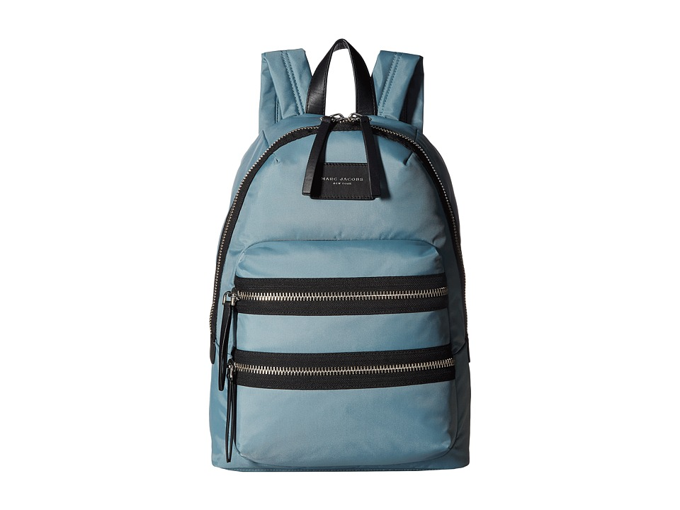 Marc Jacobs - Nylon Biker Backpack (Dolphin Blue) Backpack Bags