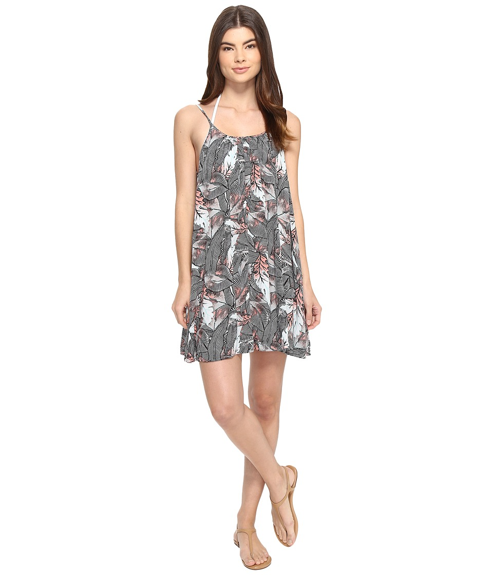 Roxy - Windy Fly Away Print Dress Cover-Up (Marshmallow Ready Made) Women's Swimwear