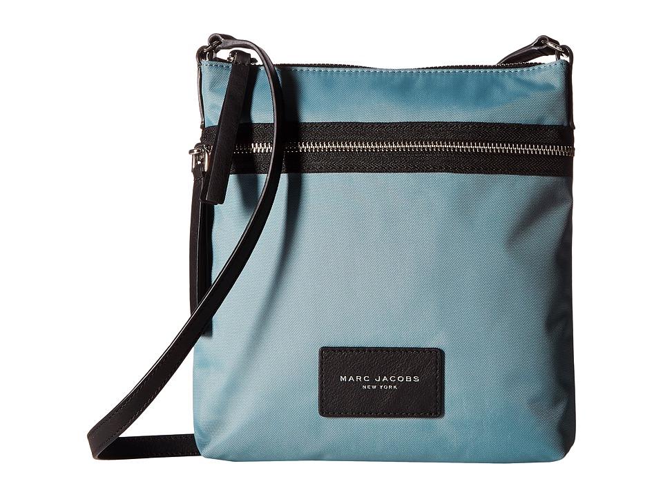 Marc Jacobs - Nylon Biker North/South Crossbody (Dolphin Blue) Cross Body Handbags