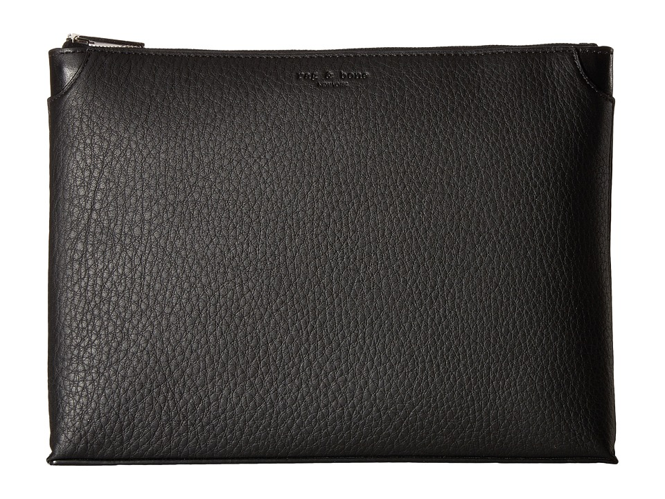 rag & bone - Medium Pouch (Black) Travel Pouch