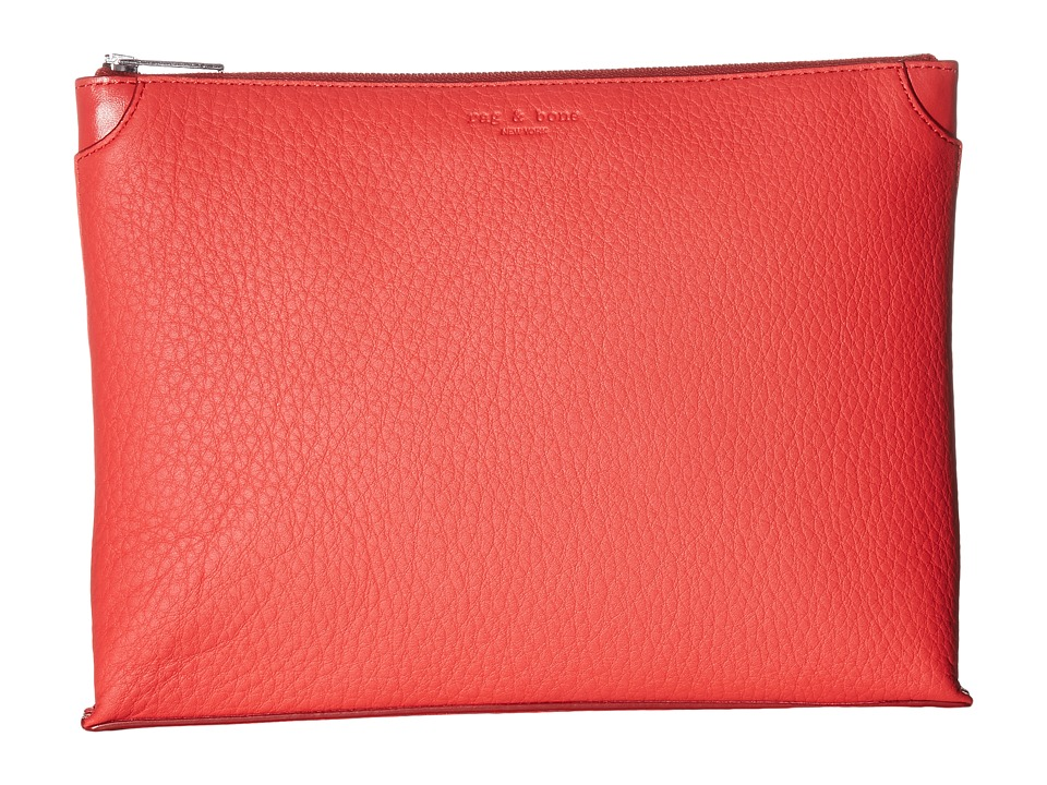 rag & bone - Medium Pouch (Crimson) Travel Pouch