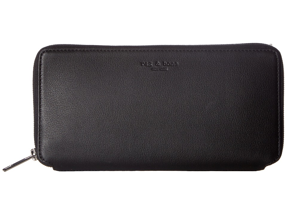 rag & bone - Zip Around Wallet (Black) Wallet Handbags