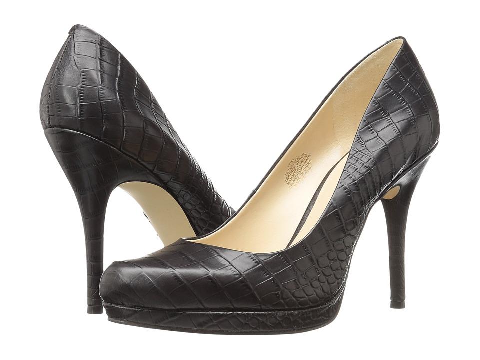 Nine West Kristal (Dark Brown Croc) Women