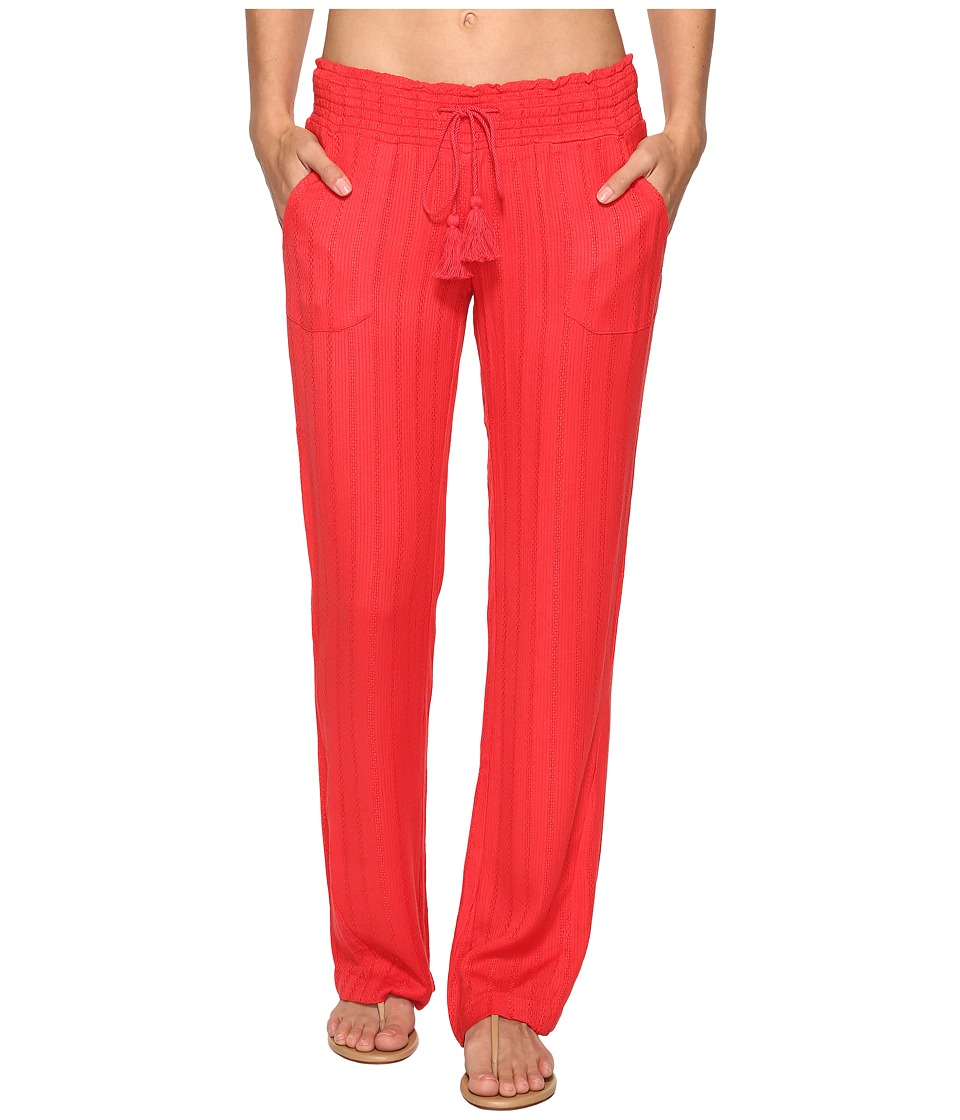Roxy Ocean Side Pants Cover-Up (Hibiscus) Women