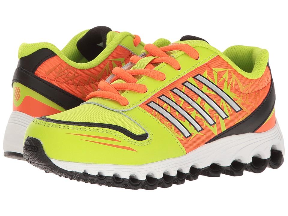 K-Swiss Kids - X-160 (Big Kid) (Lime Punch/Safety Orange/Black) Kids Shoes