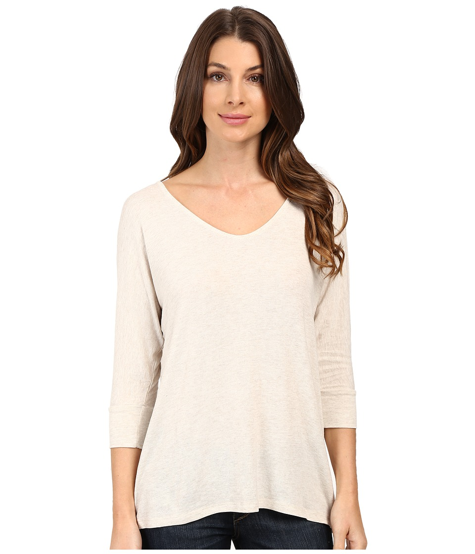 Mavi Jeans - Zip Back Top (Oatmeal Melange) Women's Clothing