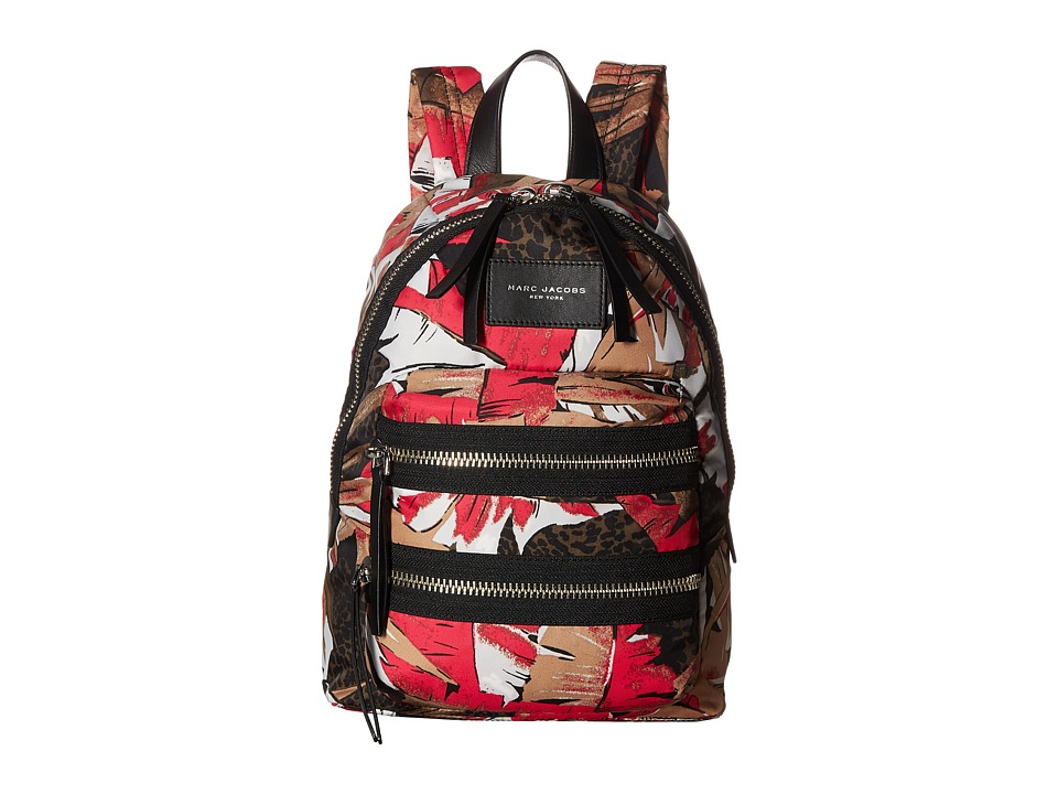 Marc Jacobs - Palm Printed Mini Biker Backpack (Pink Multi) Backpack Bags