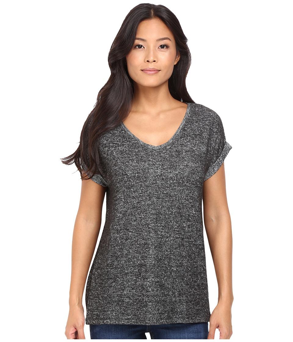 Mavi Jeans - V-Neck Top (Black) Women's Clothing