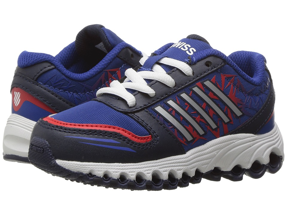 K-Swiss Kids - X-160 (Big Kid) (Navy/Classic Blue/Fiery Red) Kids Shoes