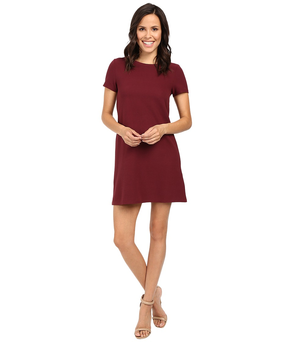 Mavi Jeans Short Sleeve Dress (Burgundy) Women