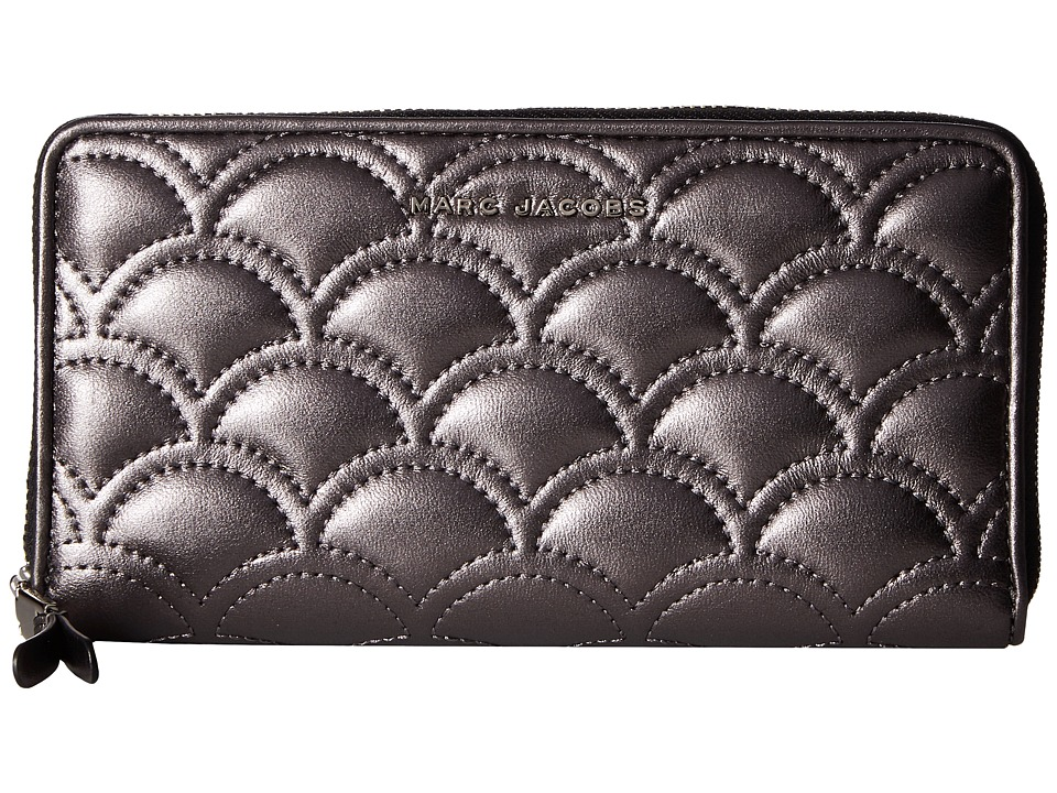 Marc Jacobs - Matelasse Metallic Standard Continental Wallet (Anthracite) Wallet Handbags
