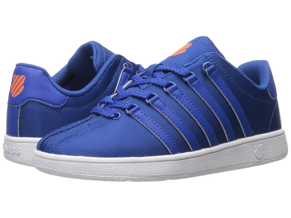 K-Swiss Kids - Classic VN Textile (Big Kid) (Classic Blue/Vibrant Orange) Kids Shoes