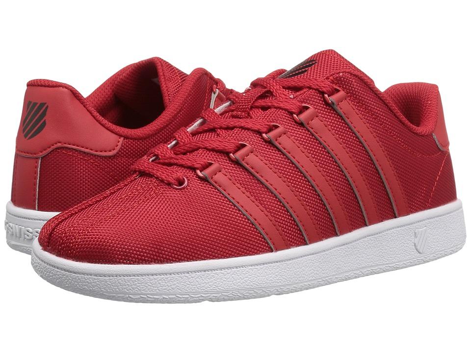 K-Swiss Kids - Classic VN Textile (Big Kid) (Red/Black) Kids Shoes