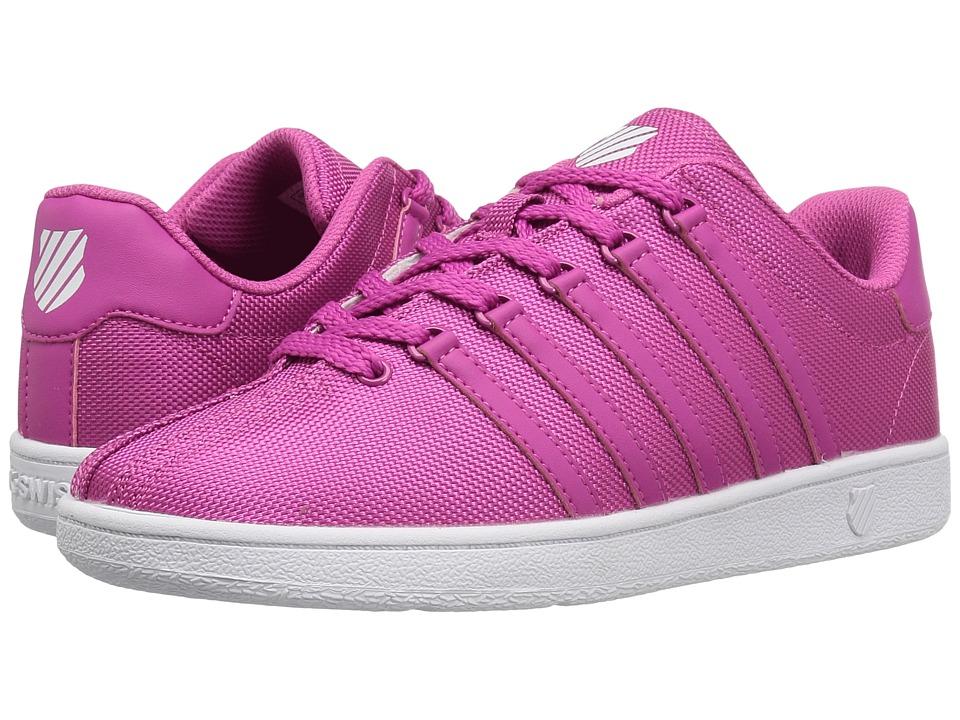 K-Swiss Kids - Classic VN Textile (Big Kid) (Magenta/White) Kids Shoes