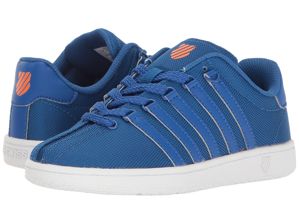 K-Swiss Kids - Classic VN Textile (Little Kid) (Classic Blue/Vibrant Orange) Kids Shoes