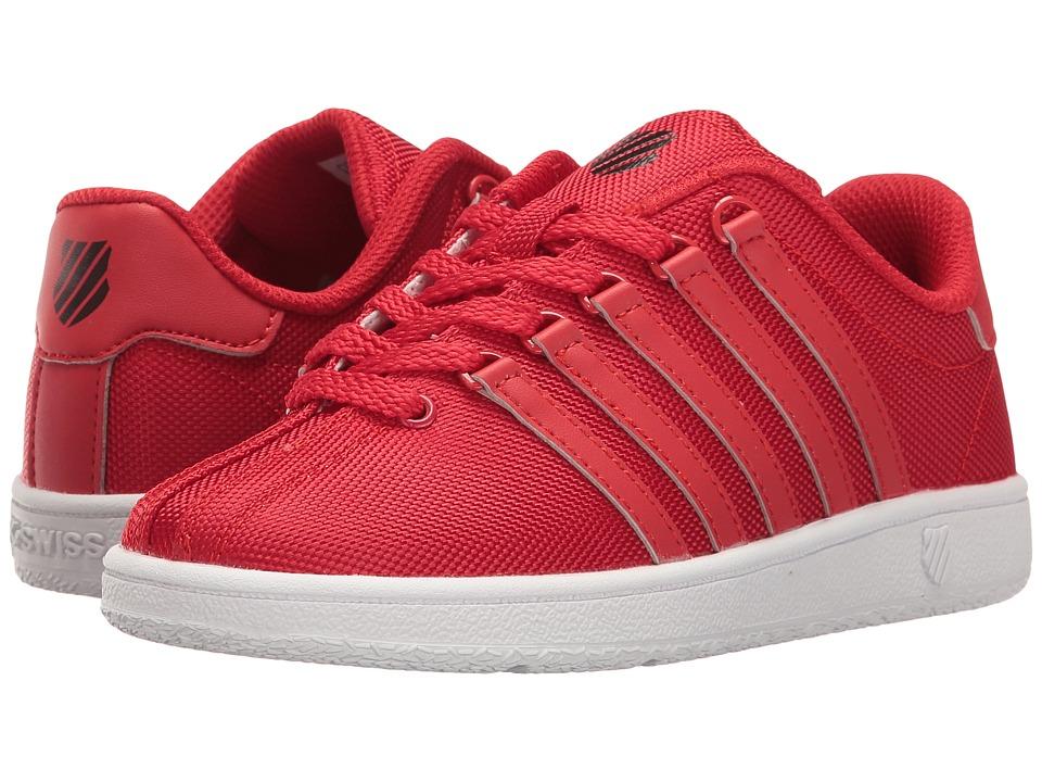 K-Swiss Kids - Classic VN Textile (Little Kid) (Red/Black) Kids Shoes