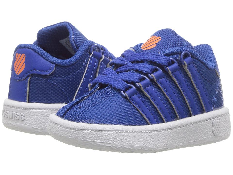 K-Swiss Kids - Classic VN Textile (Infant/Toddler) (Classic Blue/Vibrant Orange) Kids Shoes