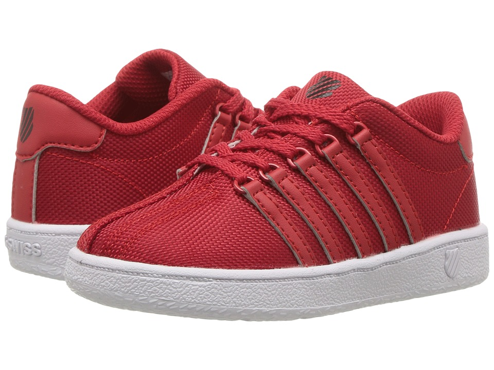 K-Swiss Kids - Classic VN Textile (Infant/Toddler) (Red/Black) Kids Shoes