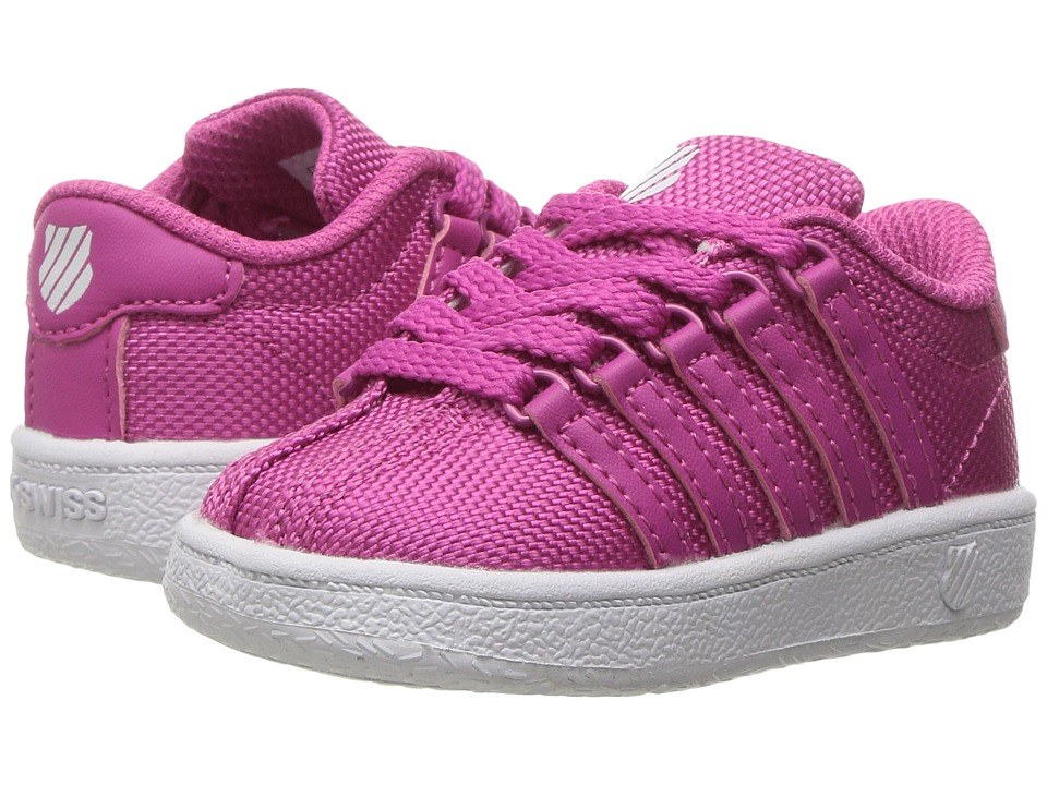K-Swiss Kids - Classic VN Textile (Infant/Toddler) (Magenta/White) Kids Shoes