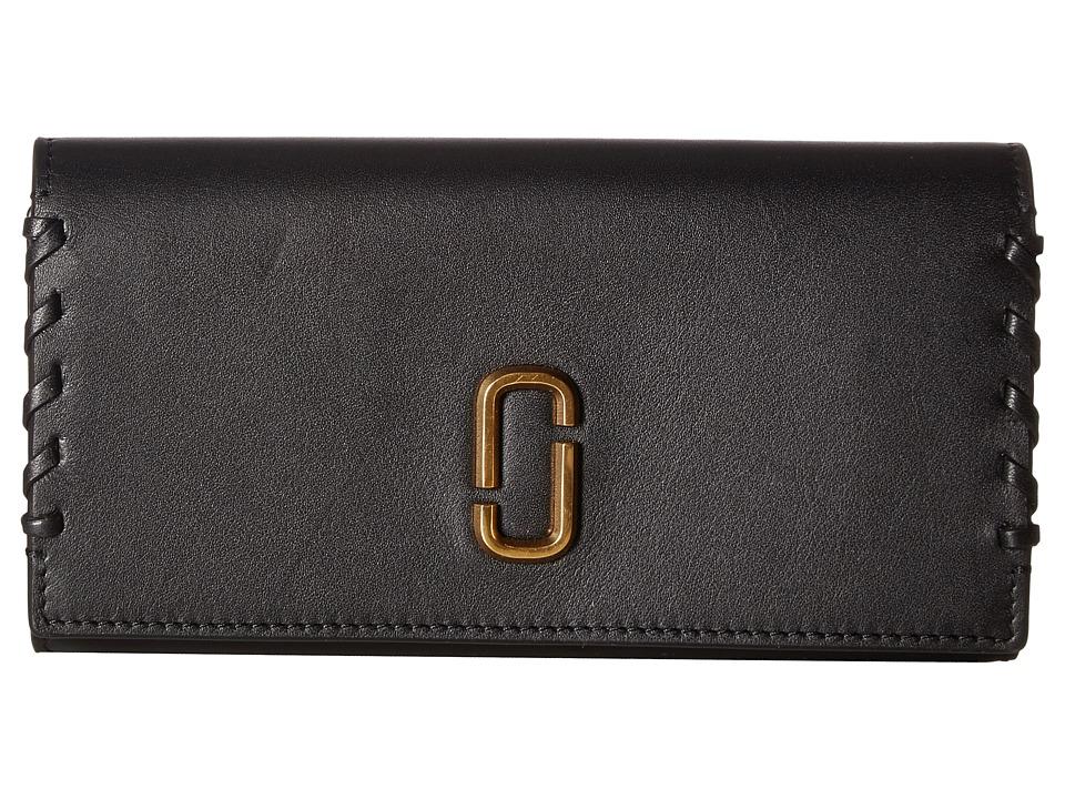 Marc Jacobs - Noho Flap Continental (Black) Handbags