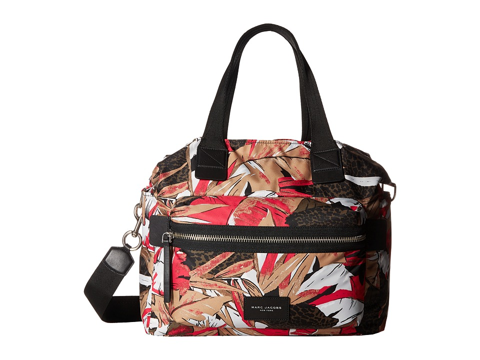 Marc Jacobs - Palm Printed Biker Babybag (Pink Multi) Handbags