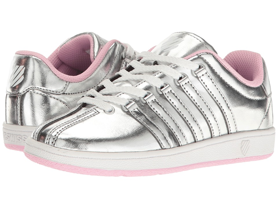 K-Swiss Kids Classic VNtm (Little Kid) (Silver/Pink) Girls Shoes