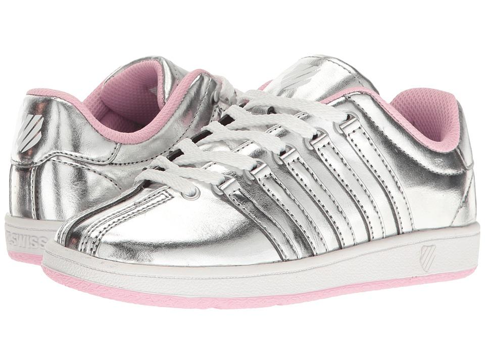K-Swiss Kids - Classic VN (Little Kid) (Silver/Pink) Girls Shoes