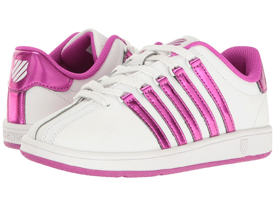 K-Swiss Kids Classic VNtm (Little Kid) (White/Pink) Girls Shoes