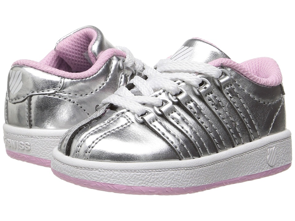 K-Swiss Kids Classic VNtm (Infant/Toddler) (Silver/Pink) Girls Shoes