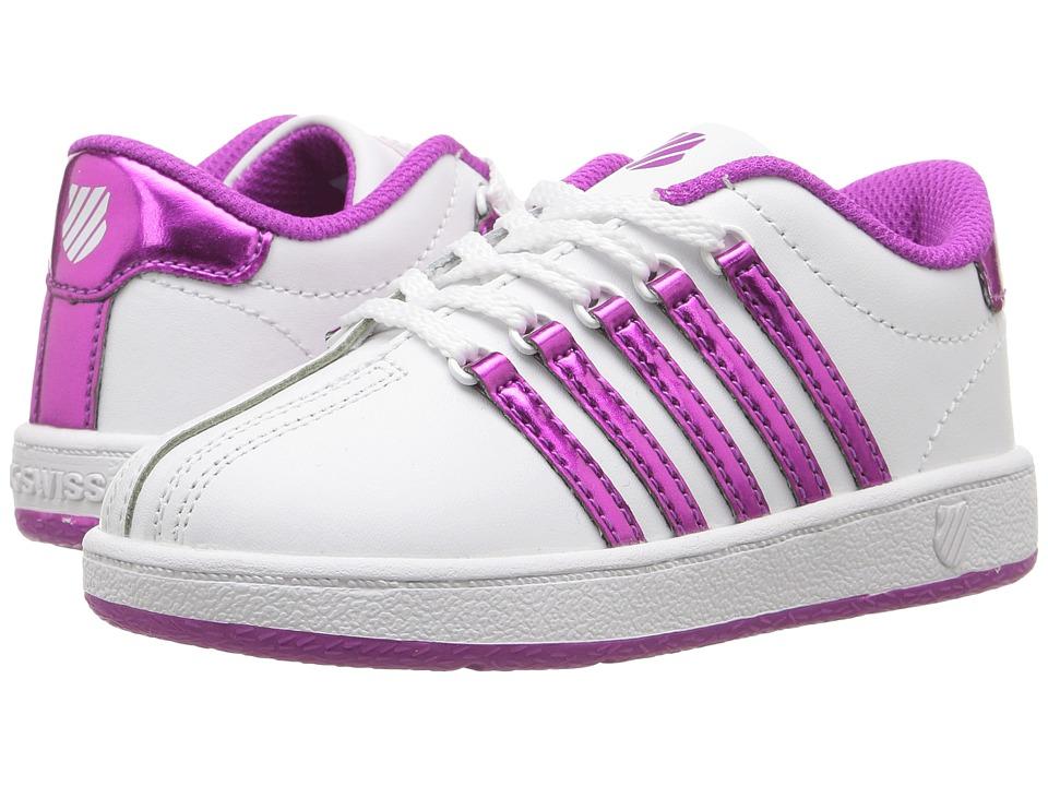 K-Swiss Kids Classic VNtm (Infant/Toddler) (White/Pink) Girls Shoes