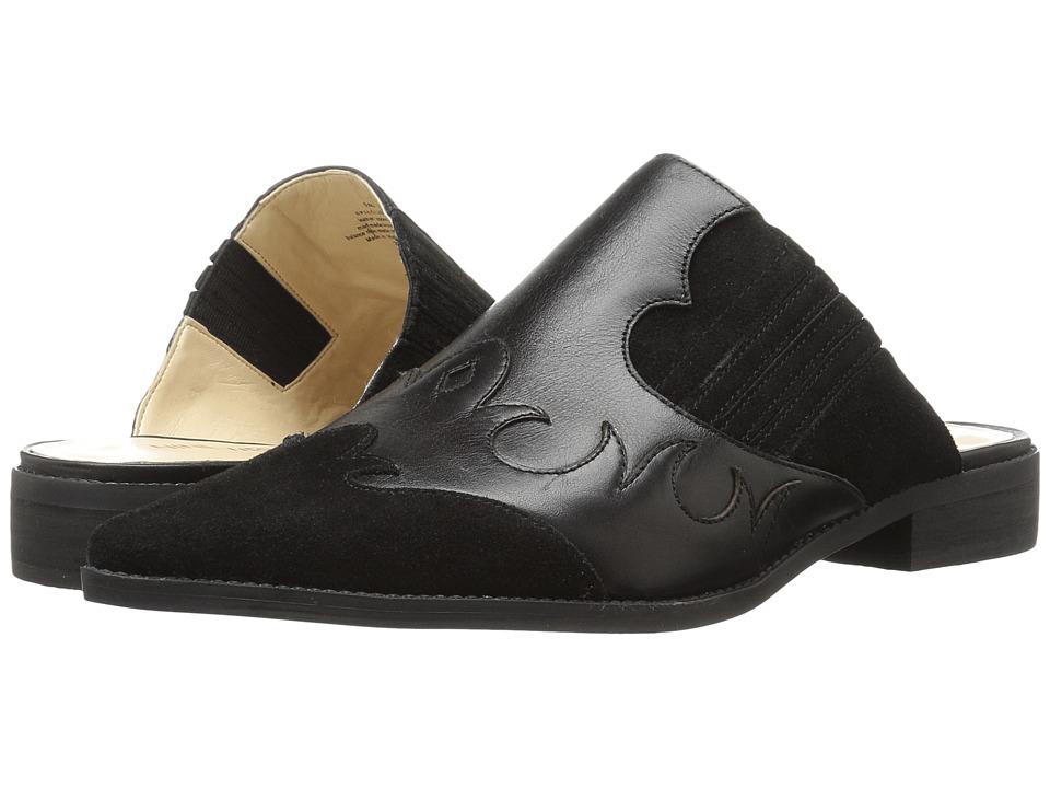 Nine West - Sadrah (Black/Black Leather) Women's 1-2 inch heel Shoes