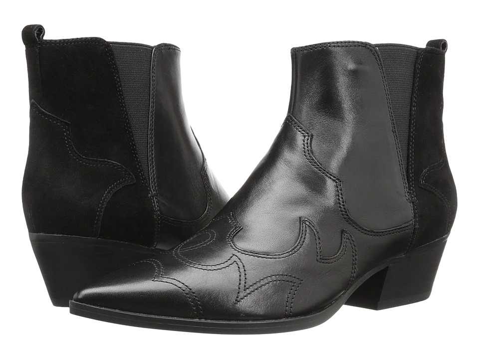 Nine West - Cedar (Black/Black Leather) Women's Pull-on Boots
