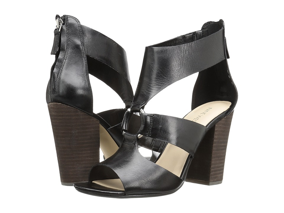 Nine West - Roamah (Black Leather) High Heels