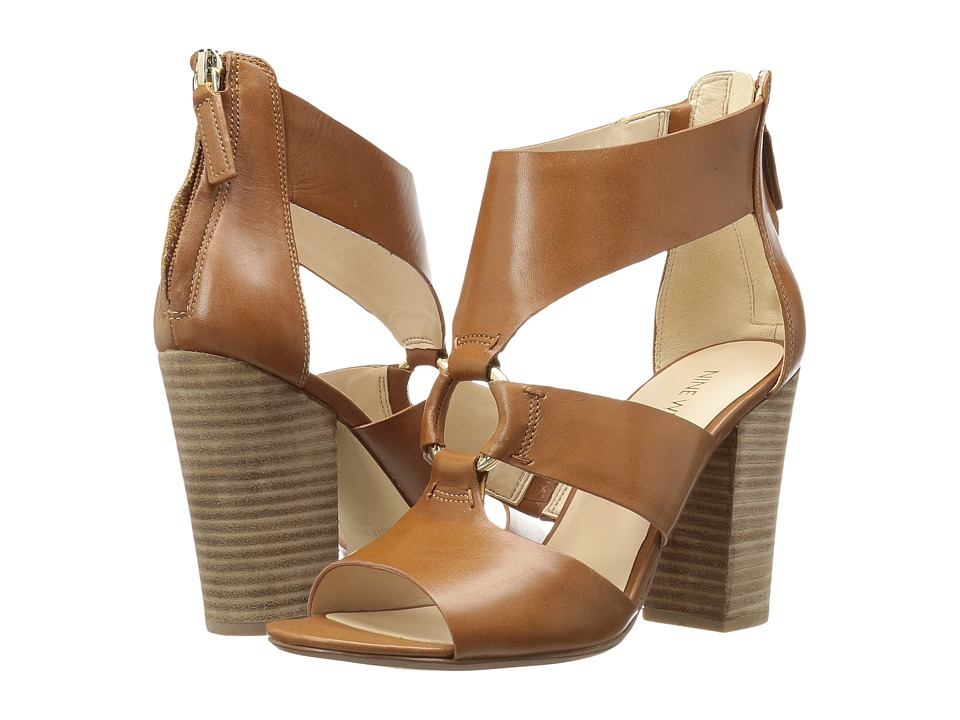 Nine West - Roamah (Cognac Leather) High Heels