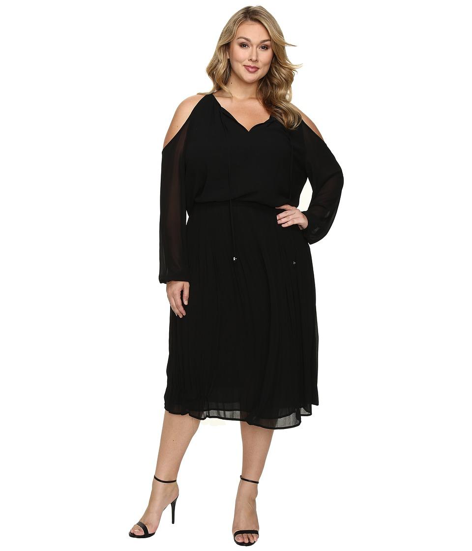MICHAEL Michael Kors - Plus Size Cold Shoulder Boot Dress (Black) Women's Dress